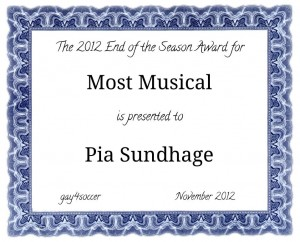 the most musical award