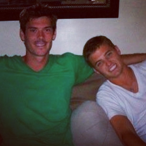 Seattle Sounders Brad Evans with Robbie Rogers