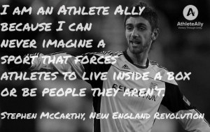 Stephen McCarthy Athlete Ally
