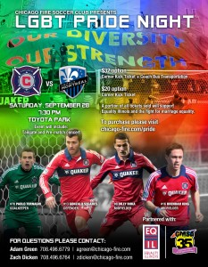 Chicago Fire Pride Night 2013