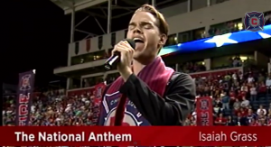 National Anthem Chicago Fire Isaiah Grass