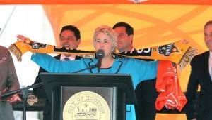 Annise Parker Houston Dynamo